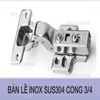 Bản lề inox SUS304 cong 3/4
