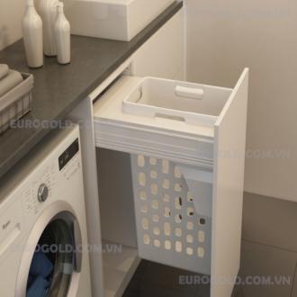 Giỏ đựng đồ giặt, ray hộp giảm chấn cao cấp