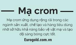 Mạ crom là gì? Tất cả thông tin cần biết về lớp mạ crom
