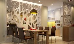 Xu hướng sử dụng vách ngăn phòng khách và bếp mới nhất 2020