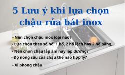 5 lưu ý khi lựa chọn chậu rửa bát inox chuẩn xịn