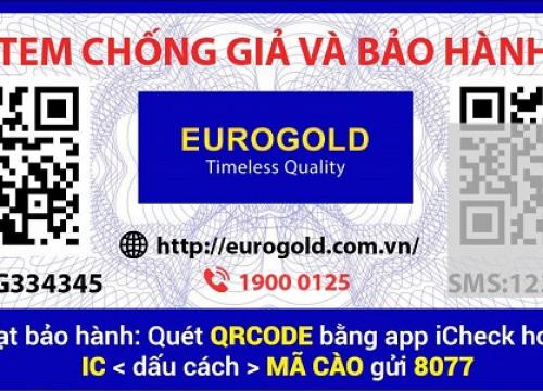 Hướng dẫn kích hoạt bảo hành điện tử giá bát nâng hạ Eurogold