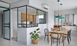 Ưu nhược điểm của vách ngăn phòng khách và bếp bằng kính