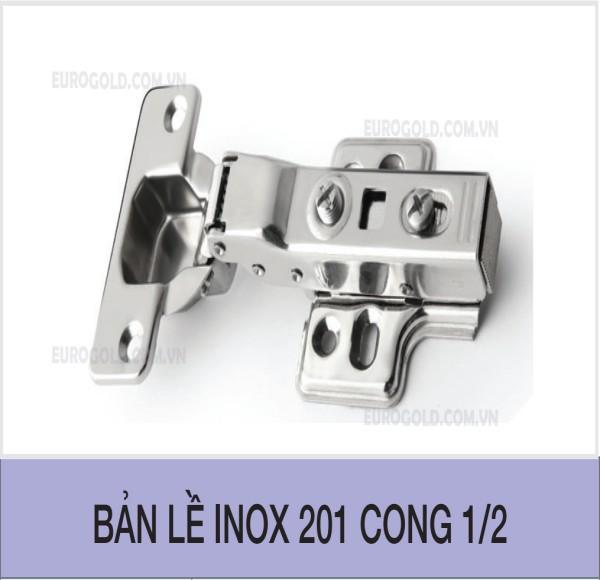 Bản lề inox 201 cong 1/2 Eurogold