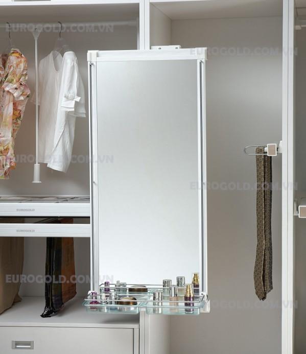 Gương âm tủ ray giảm chấn