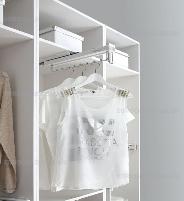 Mắc quần áo 8 nốt ray bi, ray giảm chấn