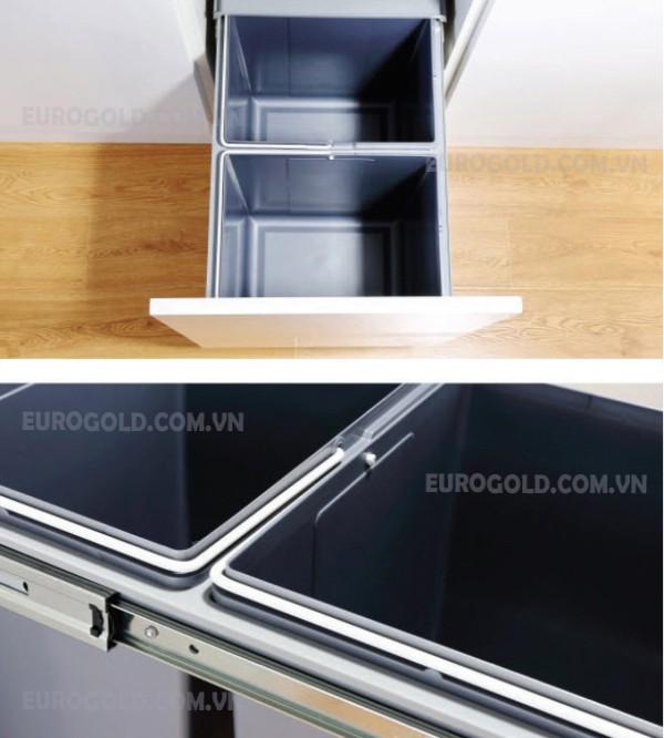 Thùng rác gắn cánh âm tủ Eurogold.