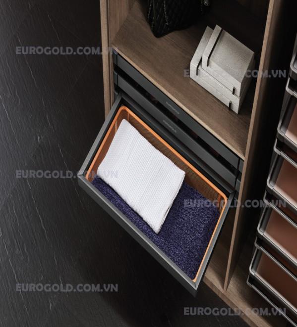 giỏ để đồ gấp ray giảm chấn lưới cao cấp Eurogold;