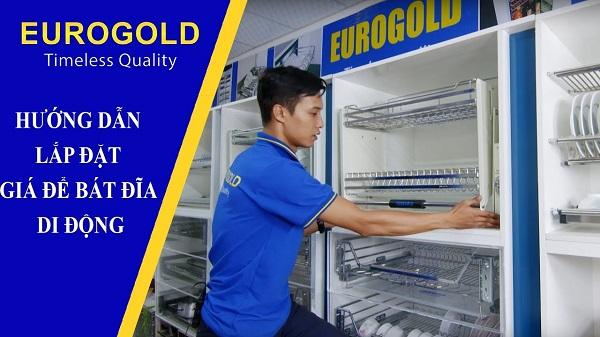 Hướng dẫn lắp đặt giá bát đĩa di động Eurogold