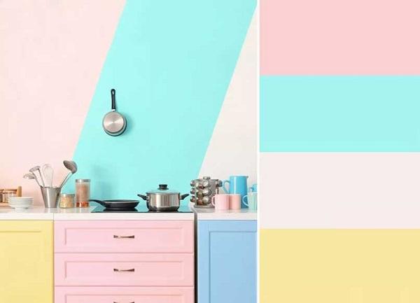phối màu tủ bếp đẹp