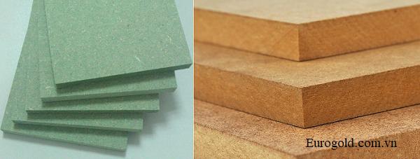 Sự khác biệt giữa gỗ MDF thường và gỗ MDF lõi xanh chống ẩm