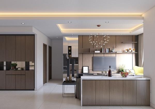 Trần thả thạch cao phòng bếp