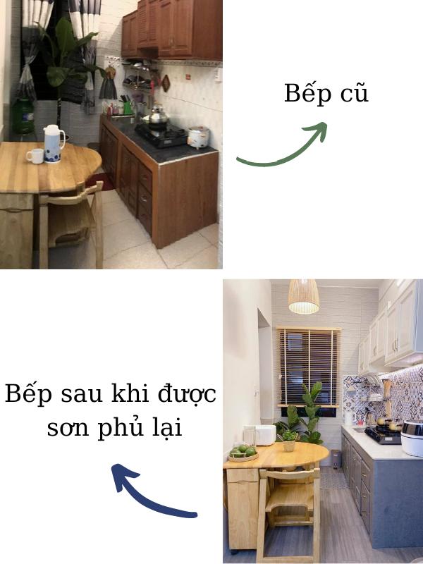 Cải tạo bếp cũ