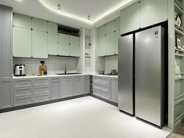 thiết kế bếp trong chung cư 70m2