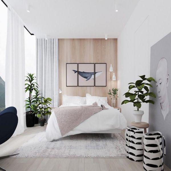 Cây trang trí trong phòng ngủ