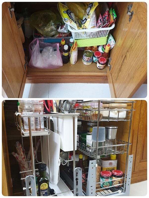Giải pháp lưu trữ tiết kiệm diện tích cho nhà bếp nhỏ