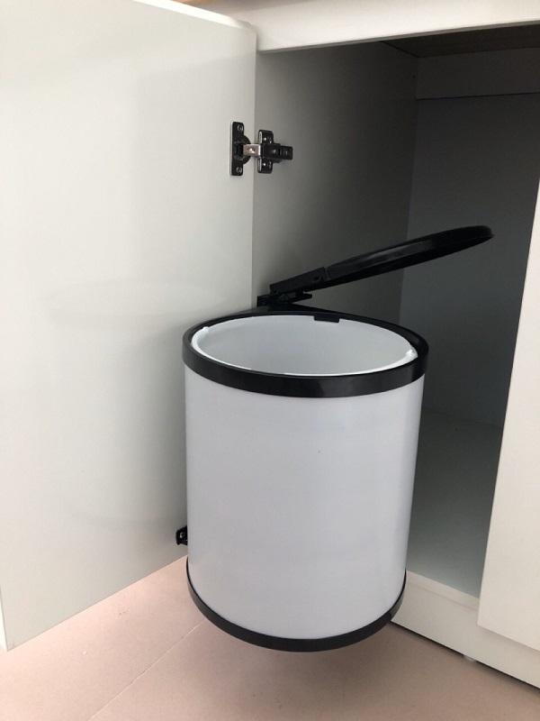 Thùng rác tròn gắn cánh âm tủ Eurogold