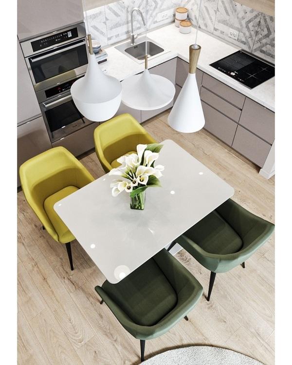 Một ý tưởng cho thiết kế phòng bếp nhỏ nhưng vẫn đẹp