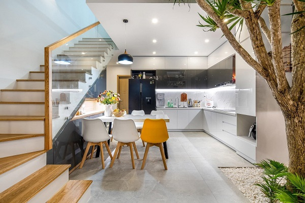 Màu sắc trong thiết kế phòng bếp
