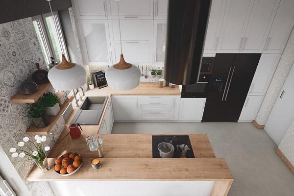 Thiết kế bếp đẹp chuẩn các khu vực được sắp xếp hợp lý đảm bảo công năng sử dụng