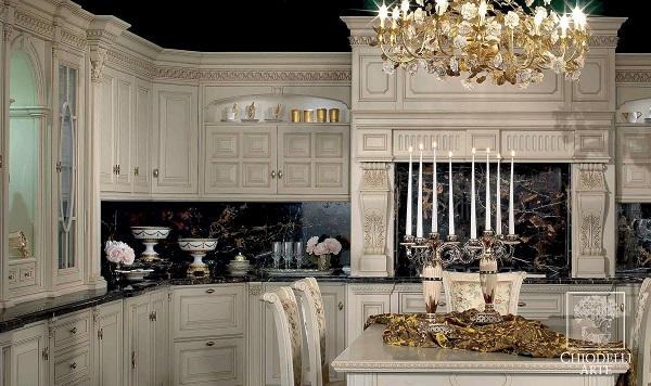 Bếp thiết kế phong cách cổ điển
