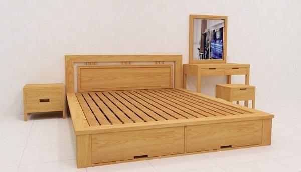 Mẫu giường ngủ bằng gỗ tần bì