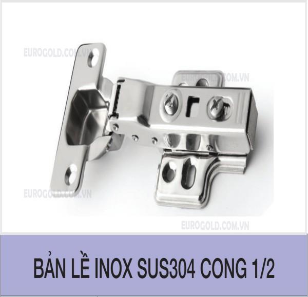 Bản lề giảm chấn inox 304 cong 1/2 Eurogold