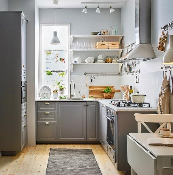 Mẫu tủ bếp thông minh cho nhà bếp chật số 2