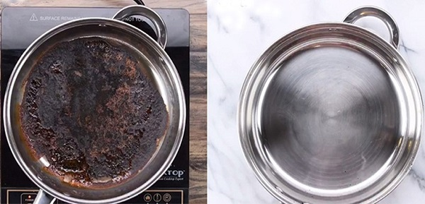 Cách xử lý khi nồi inox bị cháy đen