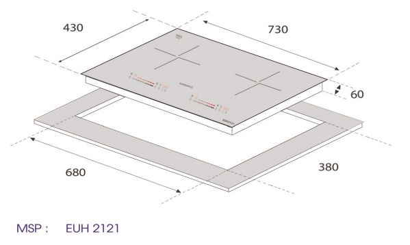 kich thước bếp từ EUH2121
